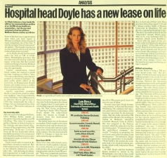 Doyle article in paper